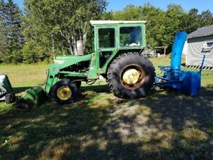 1976 John Deere Front End Loader and Snow Blower