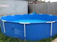 Summer Escapes 12ft pool, includes heaters, filters, sand filter and covers.