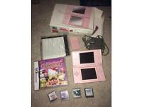 Pink Nintendo Ds Lite boxed