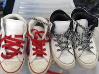 Leather converse kids trainers