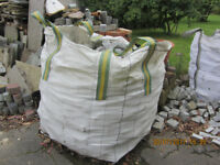 6 Empty Once Used 1 tonne Bulk Bags for Rubble, Storage, Compost, Garden waste etc