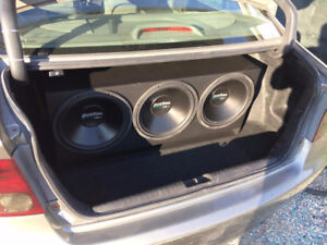3 Boston Acoustic GENERATOR 12 INCH SUBWOOFER AND 4000 WATT AMP