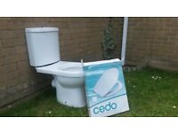 Sofia Modern Close Coupled Toilet + Seat - Never been Used as was part of suite