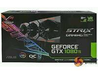 ASUS ROG STRIX GTX 1080TI-O11G GAMING GF GTX 1080 Ti 11 GB GDDR5X PCIe 3.0 x16 DVI Graphics Card