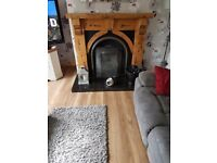 Solid pine fire surround only
