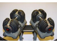 Bowflex Variable Weight Dumbbells 2 - 21 KG plus Stand