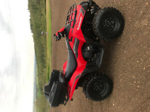 2009 Brute force 650 V-TWIN 4x4 with 4' blade