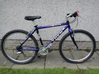 Trek single track 820 bike, 26 inch wheels, 24 gears, 18 inch cro-moly frame excellent condition