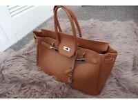 Hermes Style woman's Handbag Real leather