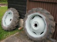 Old tractor tyres
