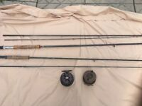 2 fly rods and 2 reels