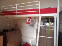 Ikea loft bed frame plus hemnes desk and two stuva wardrobes
