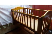 Beautiful Wooden Baby Crib
