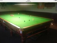 Full size snooker table by burrough & watts -dismantled for easy collection