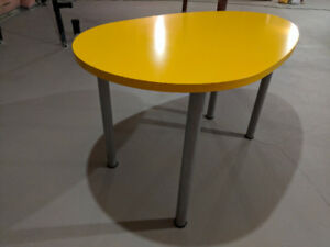 IKEA Yellow Egg Shaped Desk