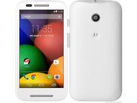 Motorola moto E. white unlocked £45 fixed price