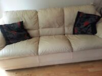 used cream colour dfs 3 seater sofa free to collect