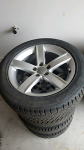 4 Audi Winter Tires on OEM Rims