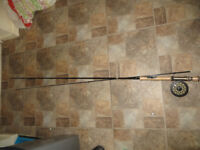Shakespeare Pro am fishing rod, fly fishing and also Shakespeare Contender fishing reel
