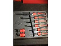 Brand new snap on screw driver tool set.