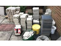 Job lot Tiles Grout Adhesive etc. Open to offers.