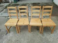 IKEA Set of 4 Wooden Chairs