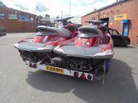 yamaha fzs supercharged jet skis/double braked trailer