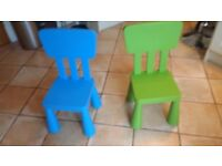Kids ikea chairs