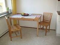 1 INGO pine dining TABLE and 2 IVAR pine CHAIRS