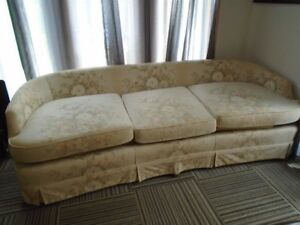 RETRO '70's COUCH,CHAIR & '60''S FRENCH PROVINCIAL COFFEE TABLE