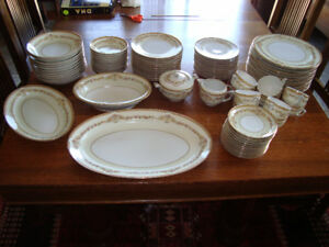 CIRCA 1950 QUALITY JAPANESE NARUMI CHINA SERVICE FOR 12