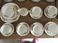 Floral/vintage china tea set fine china