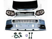 VW Transporter T5 Front End Conversion Styling Pack includes Wiring Kit / Lower Splitter