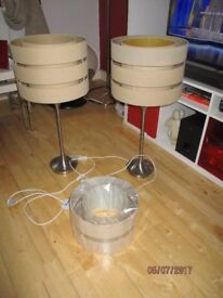 Two high table lamps