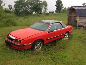 1990 Chrysler labaron convertible for parts