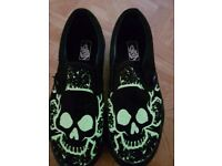 Glow in the dark skull vans