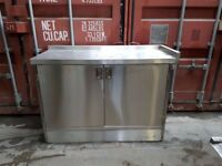 commercial stainless steel cupboard double door work top brand new free delivery