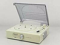 Steepletone ST938 3 Speed 33/45/78 rpm Stand Alone Record Player with Flip Over Stylus - Cream