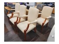 Upholstered wood framed Dining Chair. £25 each or set for £100