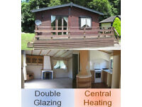 Lodge Twin Unit, Cosalt Cezanne 36 x 20 2 bedroom lodge, wood clad, double glazing, central heating