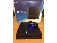 PS4 500GB BLACK with dual controller