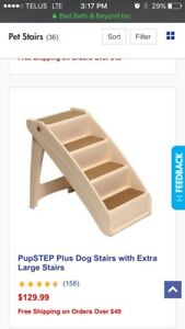 Extra large pet stairs