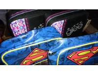Lunch box/coolers school bags superman glee X4