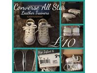 Infant/Children's converse and trainers size 4.5, 5 and 6
