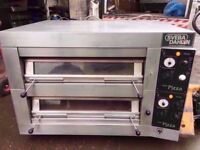 "12 X 13"" CATERING DOUBLE DECK COMMERCIAL PIZZA OVEN MACHINE TAKEAWAY DINER SHOP PUB RESTAURANT BAR"