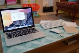 Mid 2014 Macbook Pro with Apple Keyboard, Magic Mouse, Trackpad and JetDrive