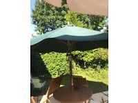 Garden, sun umbrellas