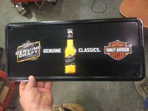 Miller Genuine Draft Harley Davidson Advertising Sign