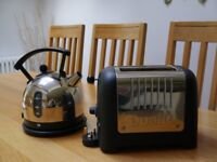 Dualit Polished Stainless steel Matching Kettle and Toaster in excellent condition