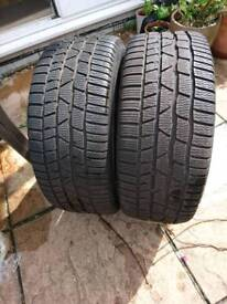 2 x Audi A4 S-line 225/40 R18 contiwintercontact tyres